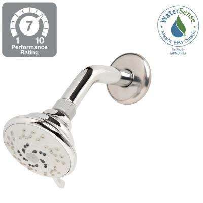 3-Spray 3.45 in. Fixed Shower Head in Chrome