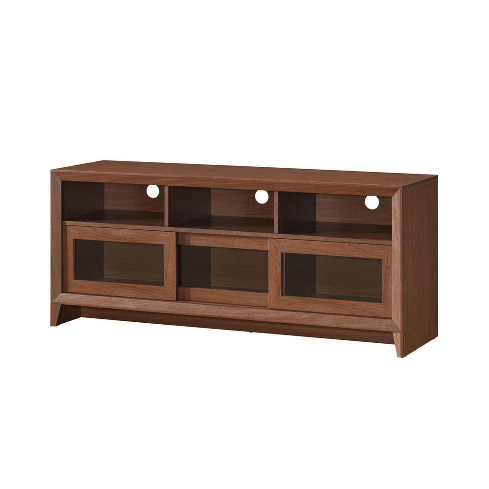 Techni Mobili Hickory Modern TV Stand With Storage For TVs Up To 60 In.