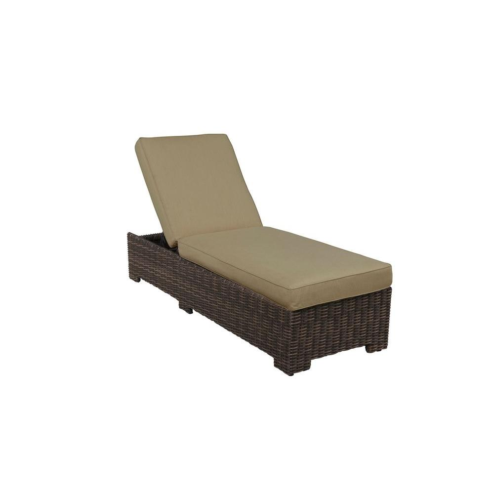 Brown Jordan Northshore Patio Chaise Lounge with Meadow Cushions -- CUSTOM