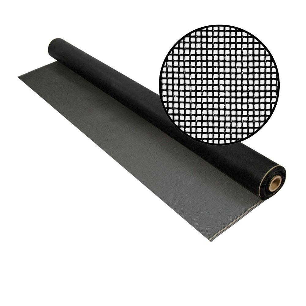 48 in. x 100 ft. Charcoal Fiberglass Screen 20x20 Mesh