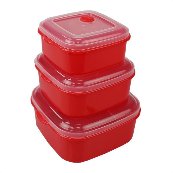 3-Piece Microwave Safe Container Set