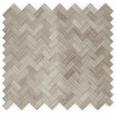 Maidenhair Mixed Grays 12.09 in. x 11.65 in. x 5 mm Stone Self-Adhesive Wall Mosaic Tile (11.76 sq. ft. /case)