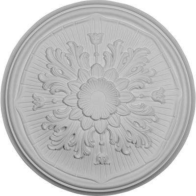 15-3/4 in. OD x 5/8 in. P (Fits Canopies up to 1-1/8 in.) Luton Ceiling Medallion