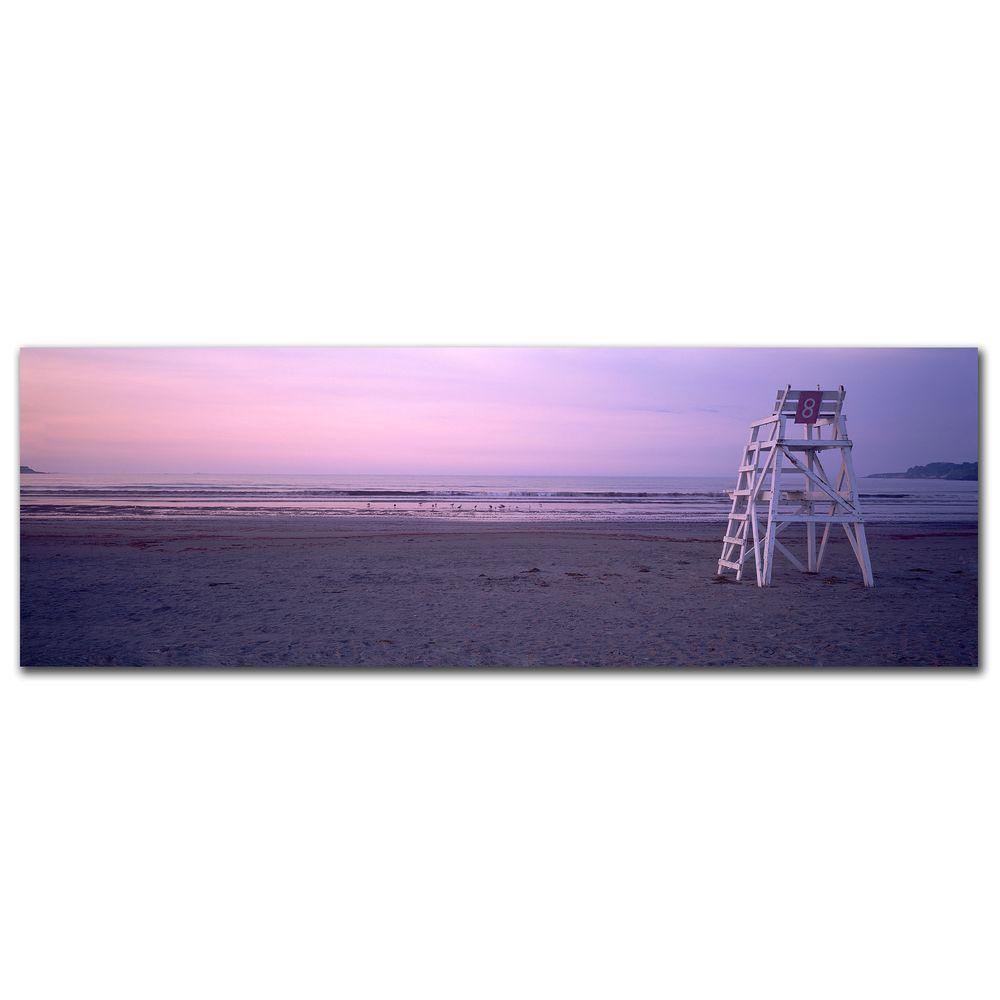 Trademark 10 in. x 32 in. Beach Chair Canvas Art