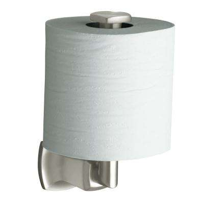 Margaux Vertical Wall-Mount Single Post Toilet Paper Holder in Vibrant Polished Nickel
