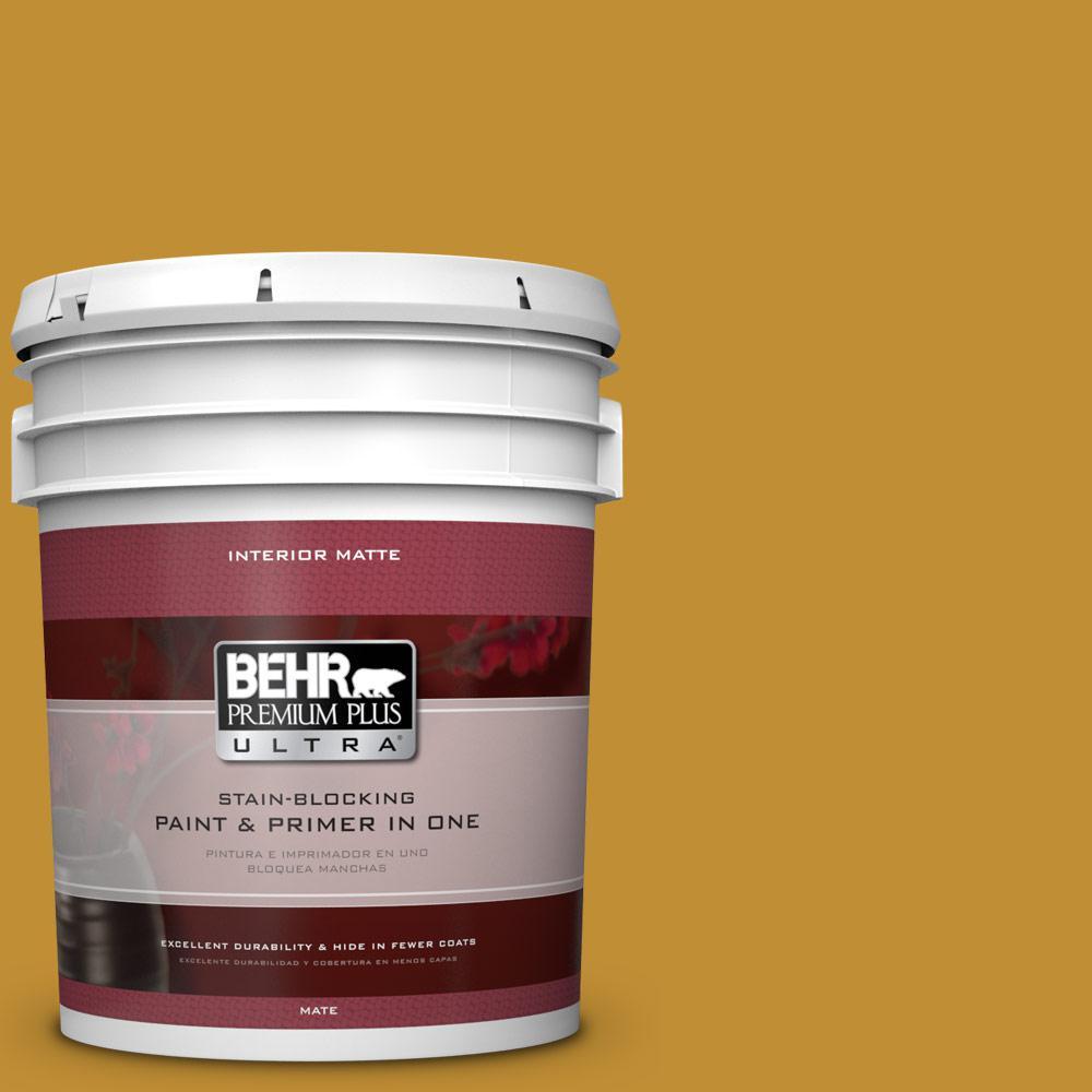 BEHR Premium Plus Ultra 5 gal. #M290-7 Turmeric Matte Interior Paint