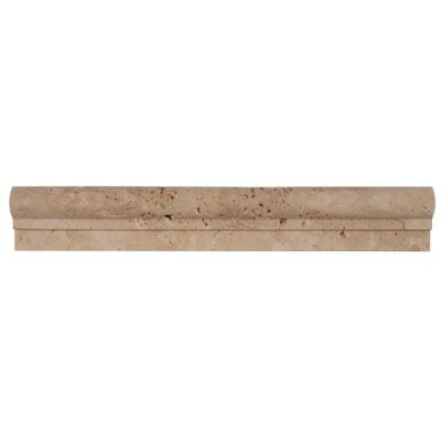 Chiaro Crown Molding 2 in. x 12 in. Honed Travertine Wall Tile (1 lin. ft.)