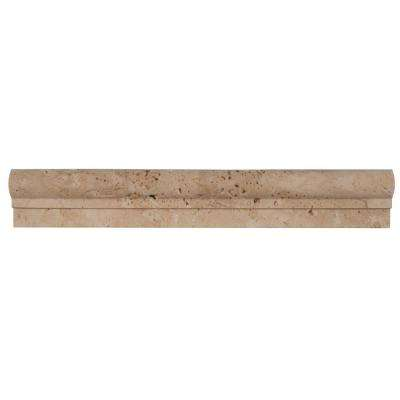 Chiaro Crown Molding 2 in. x 12 in. Travertine Wall Tile (1 ln. ft.)