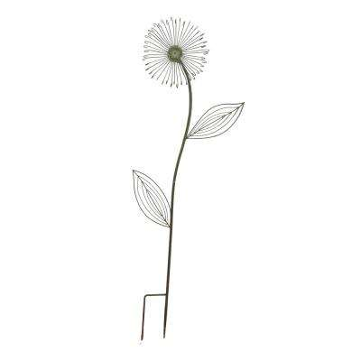 50 in. Forest Green Dandelion Metal Garden Stake
