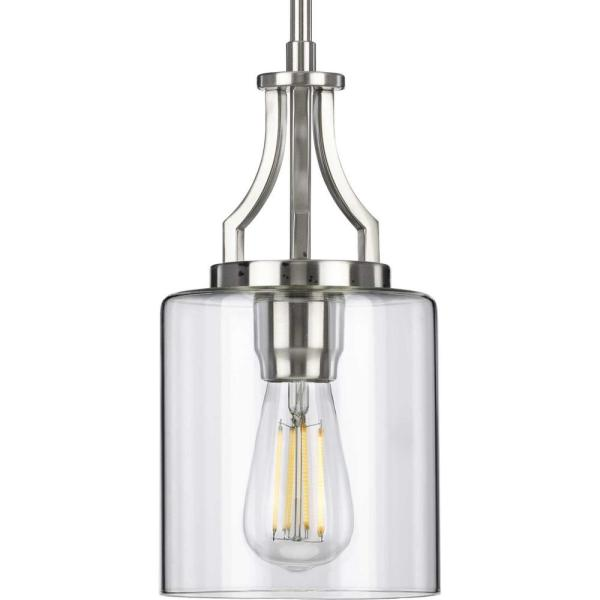 Lassiter 1-Light Brushed Nickel Mini-Pendant
