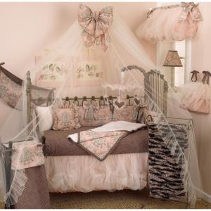 17 in. L Floral Cotton and Satin Tulle Nightingale Balloon Valance in Pink