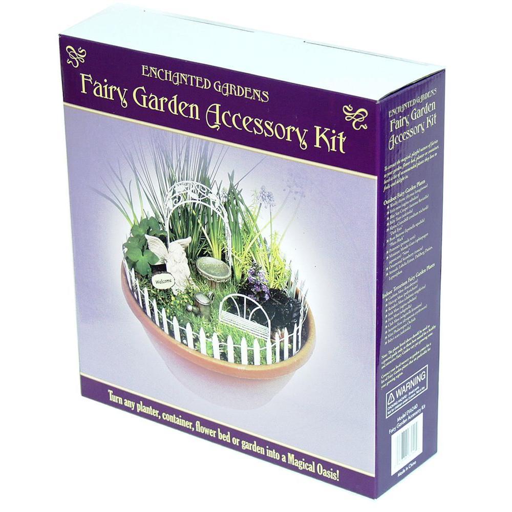 Echo Valley 7 Piece Fairy Garden Starter Accessory Kit