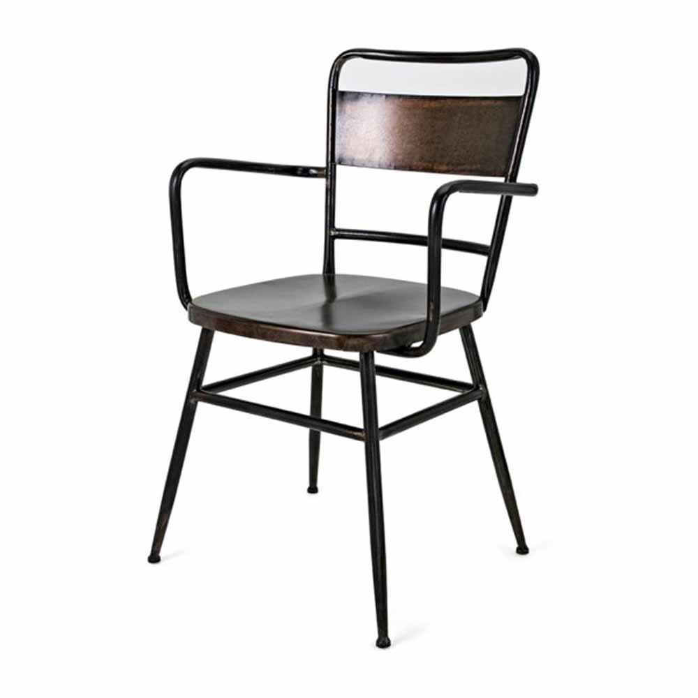 Oscar Brown Metal Arm Chair