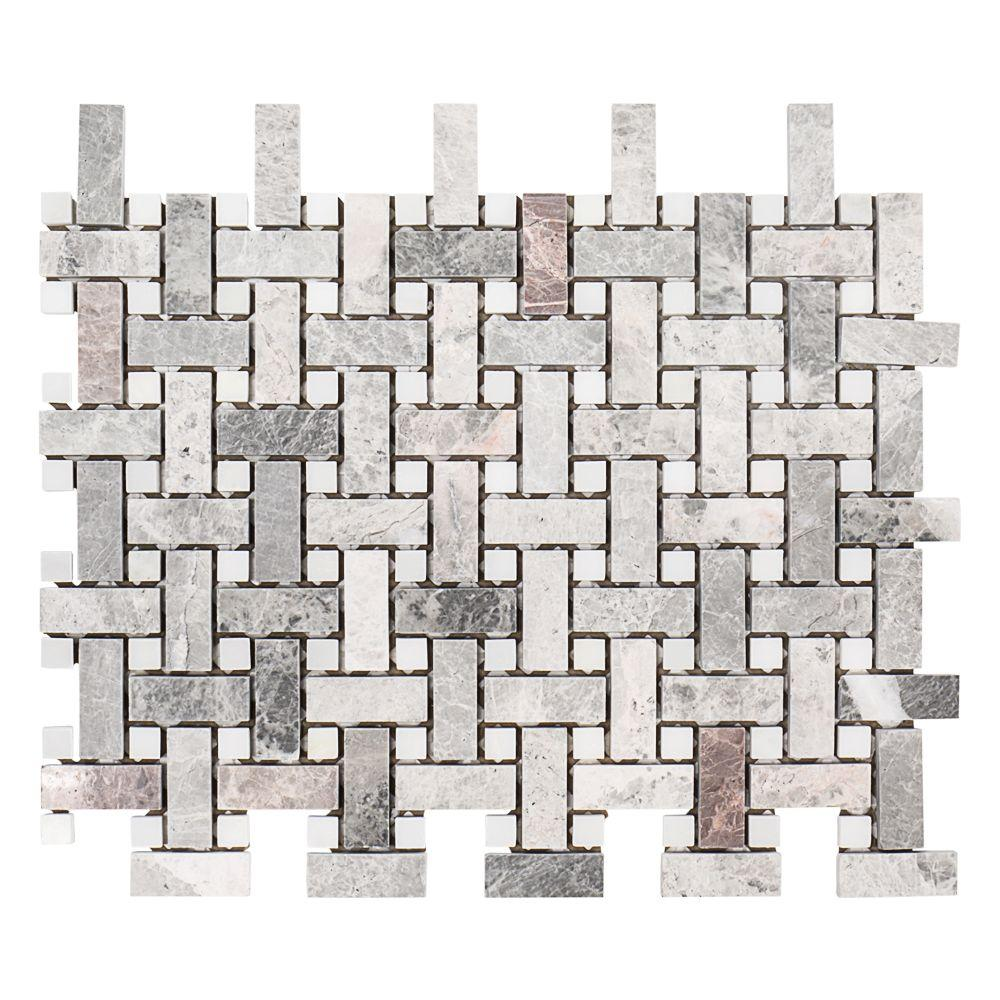 Charleston Hills 9-1/8 in. x 13-7/8 in. x 8 mm Marble