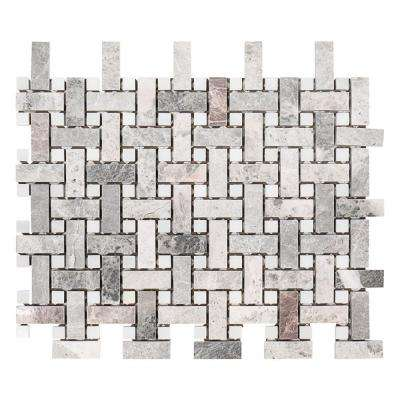 Charleston Hills 9-1/8 in. x 13-7/8 in. x 8 mm Marble Mosaic Tile