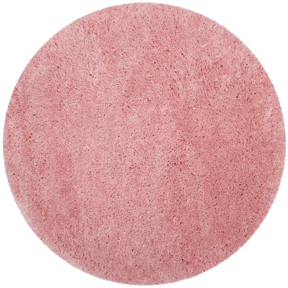 Polar Shag Light Pink 7 Ft X Round Area Rug