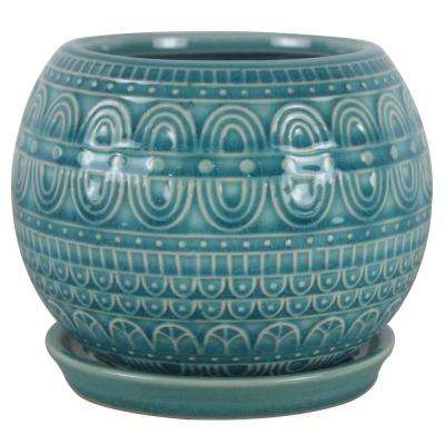 6 in. Dia Seven Seas Ceramic Globe