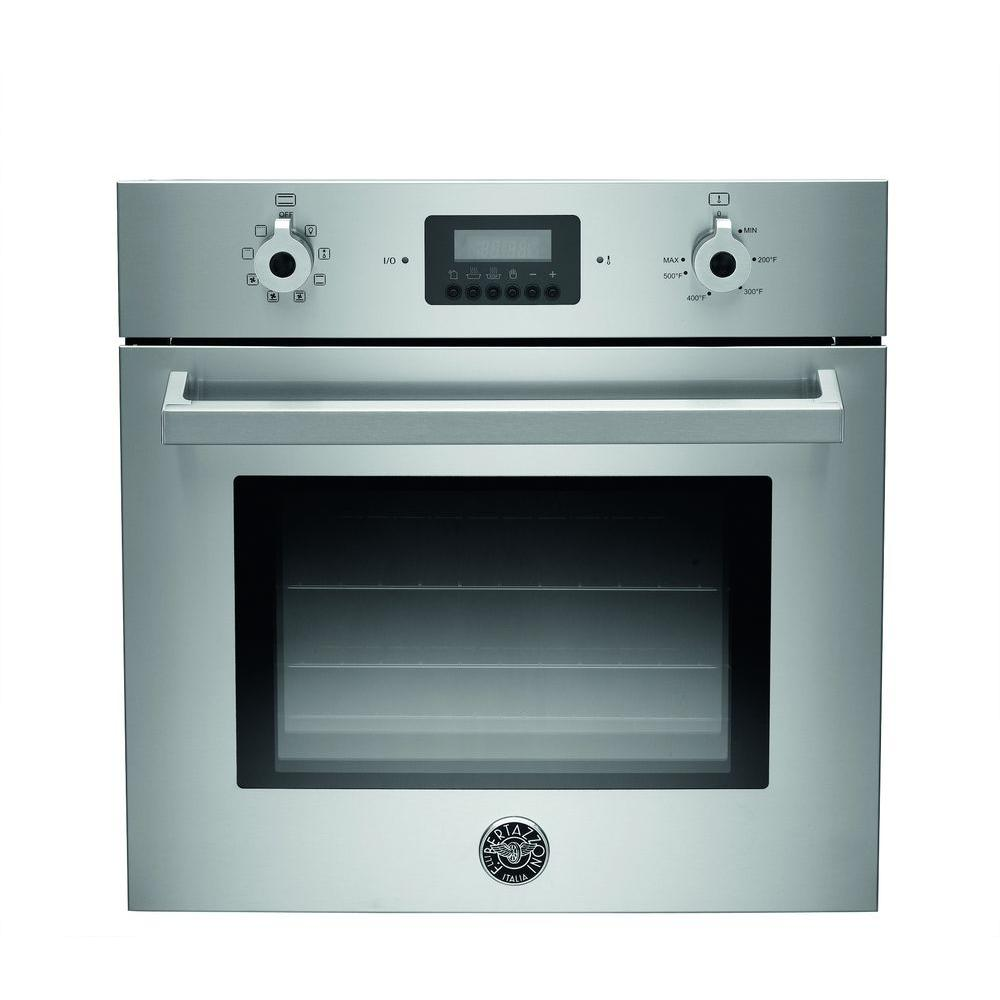 24 in. Single Electric Wall Oven Manual-Cleaning with Convection in Stainless