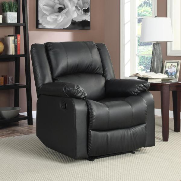 Relax A Lounger Preston Faux Leather Recliner Chair in Black