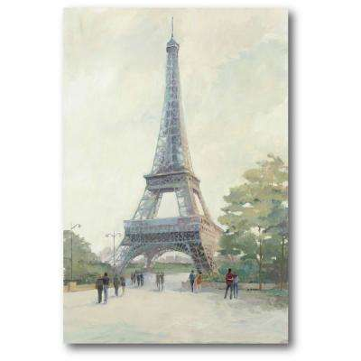 "24 in. x 36 in. ""Early Evening Paris"" Gallery Wrapped Canvas Printed Wall Art"