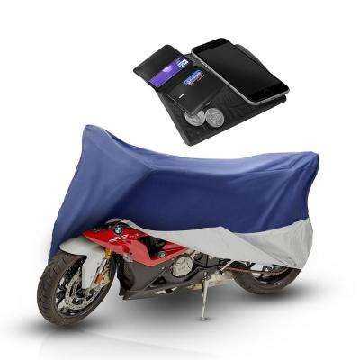 Premium Water Repellent Polyester 93 in x 35 in. x 46 in. Small Motorcycle Cover