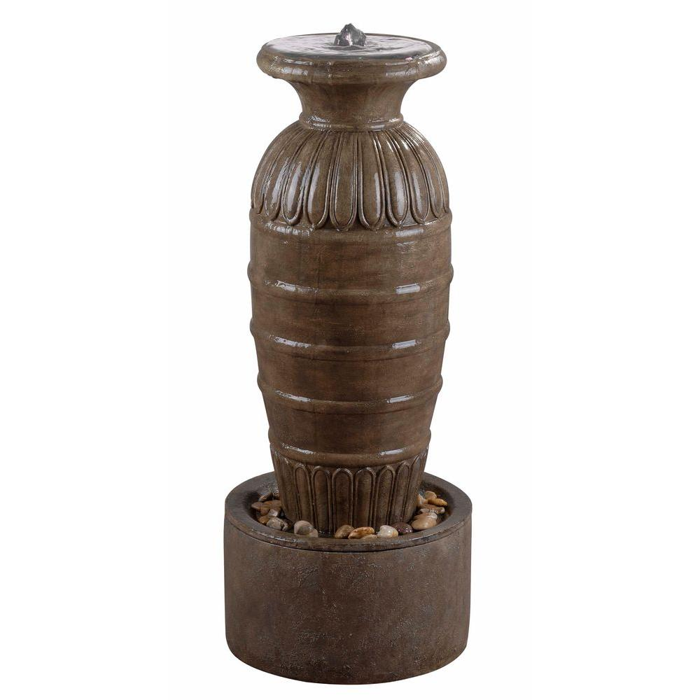 Outdoor Water Fountains Home Depot: Kenroy Home 37 In. Ernesto Tuscan Earth Finish High