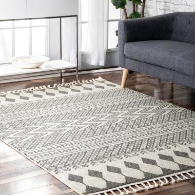 Terra Tribal Bands Beige 7 ft. x 9 ft. Area Rug