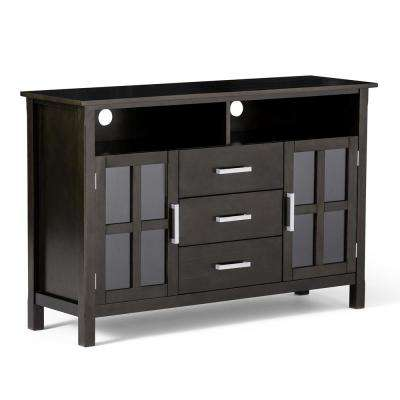 Kitchener Dark Walnut Brown 53 in. Tall TV Media Stand