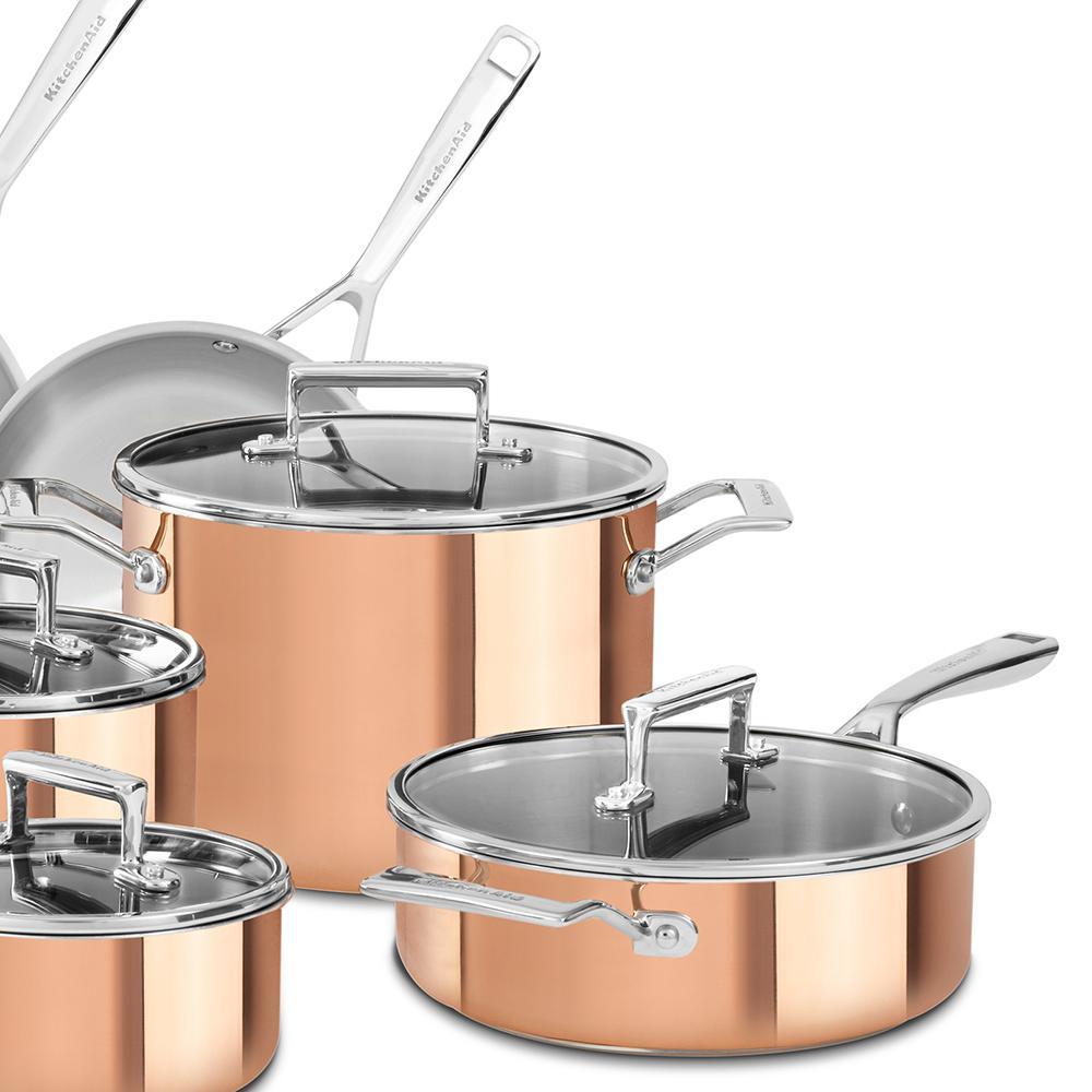 internet kitchenaid 10piece copper cookware
