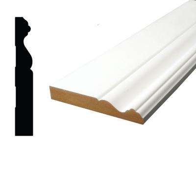 11/16 in. x 4-3/4 in. x 96 in. Primed MDF Colonial Base Moulding