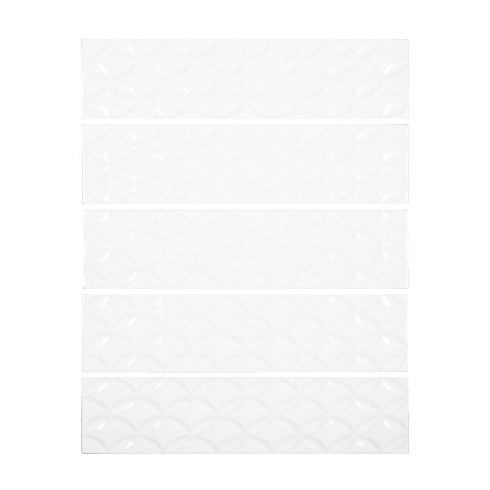 Jeffrey Court Allegro Trellis 3 in. x 12 in. x 8 mm Ceramic Wall Tile (10.75 sq. ft. / case)