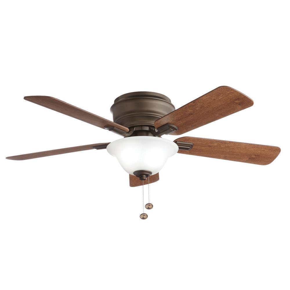 Hawkins 44 in. LED Oil Rubbed Bronze Ceiling Fan with Light
