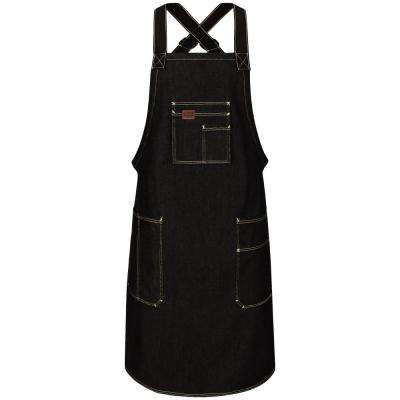 Men's 28 in. x 36 in. Prewash Black Shop Apron