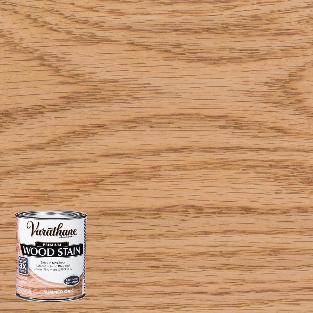Varathane 1 qt. Summer Oak Premium Fast Dry Interior Wood Stain