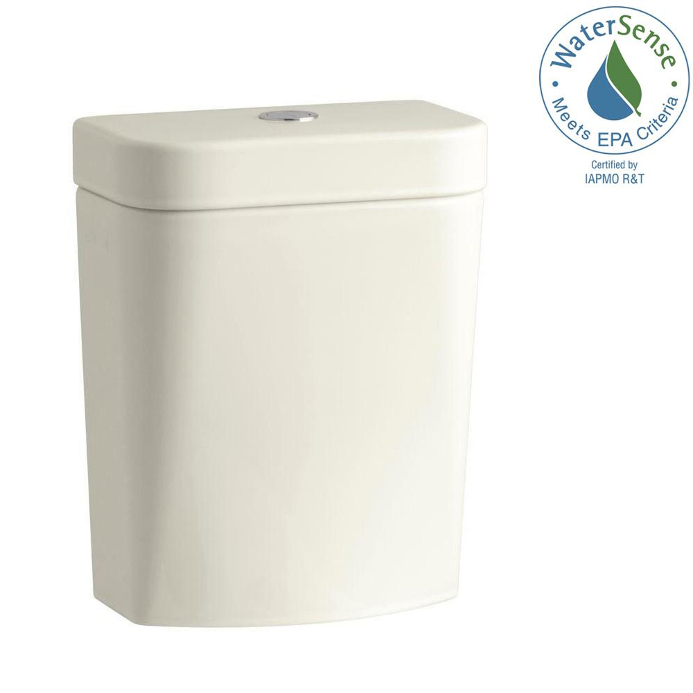 KOHLER Persuade Circ 1.0 or 1.6 GPF Dual Flush Toilet Tank Only in Biscuit