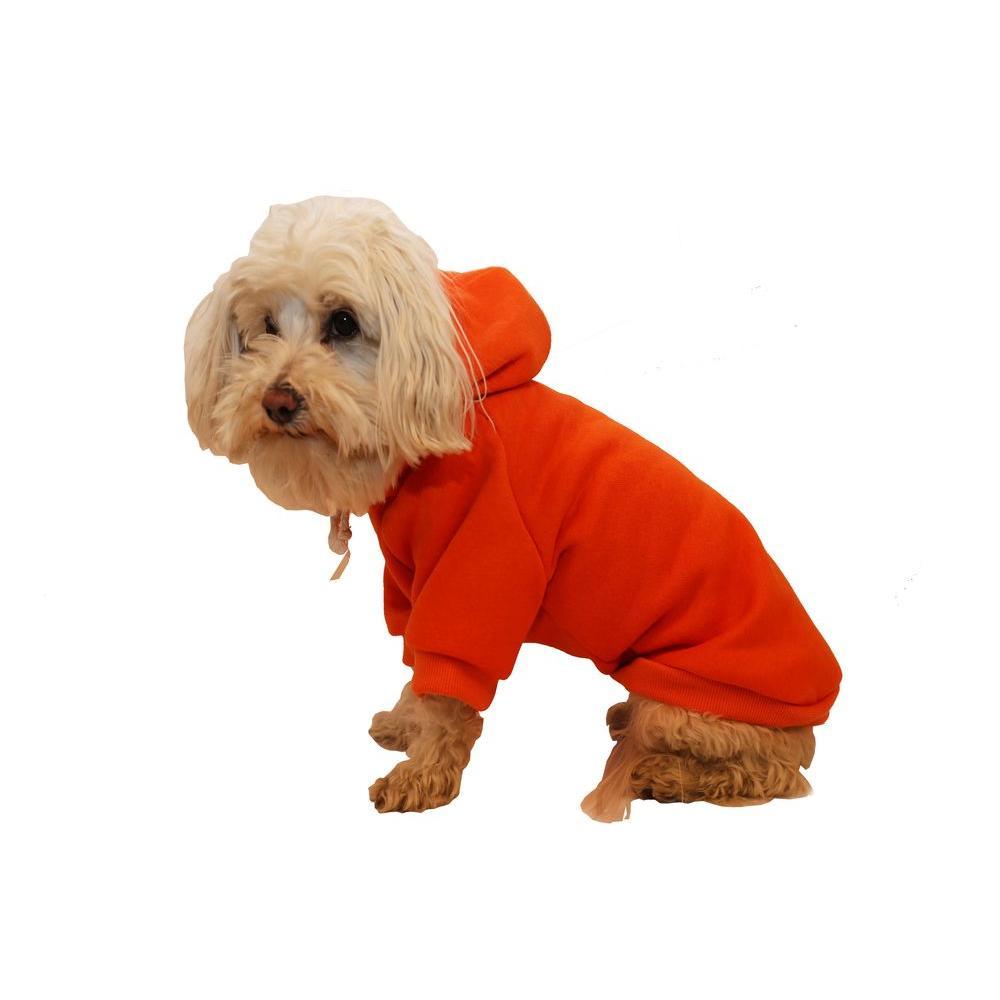 PET LIFE Small Fresh Orange Fashion Ultra-Soft Cotton Pet Dog Hoodie Hooded Sweater
