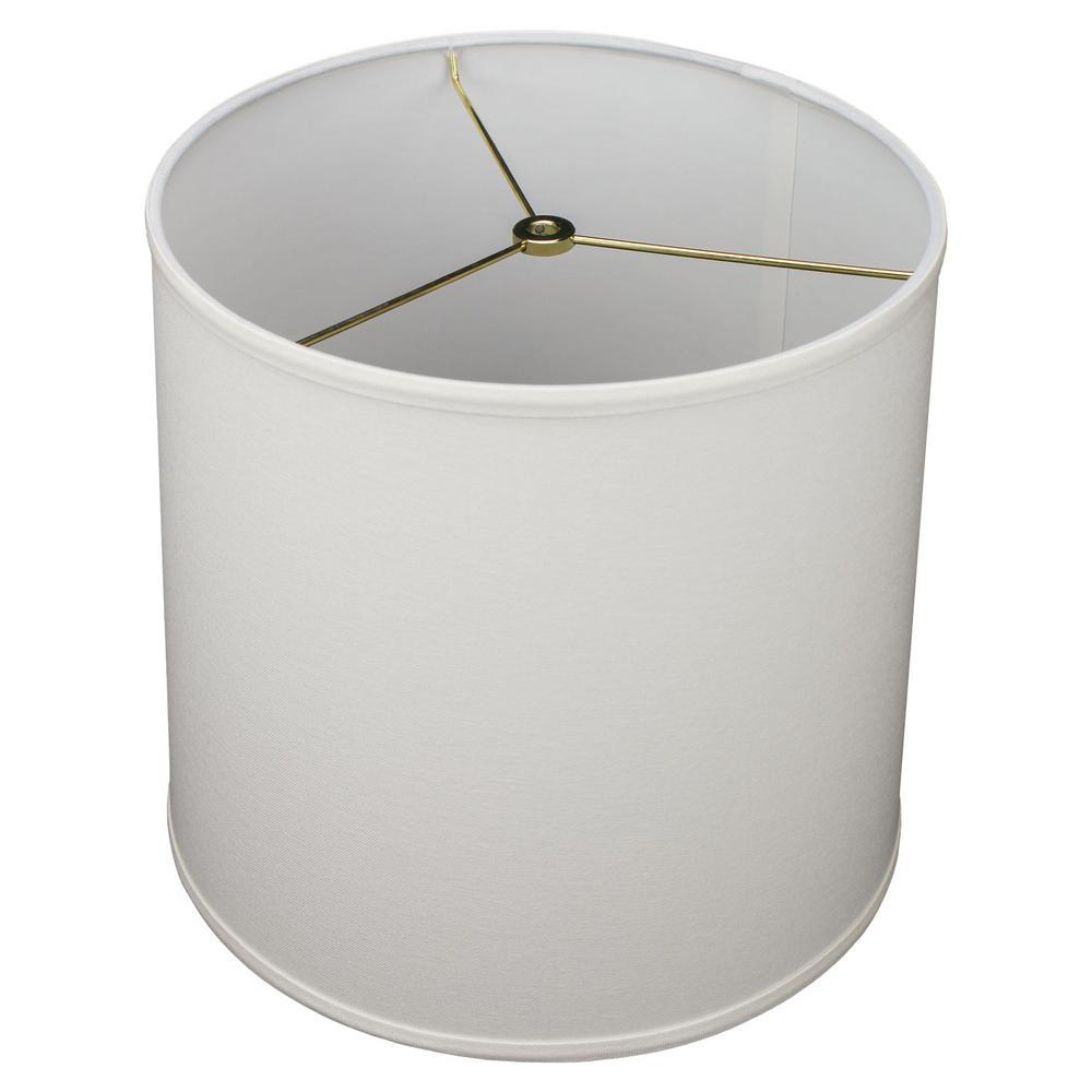 13 in. Top Diameter x 12 in. H x 13 in. Bottom Diameter Linen Cream Slant Empire Lamp Shade