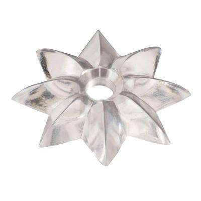 2 in. Star Mirror Rosette in Clear