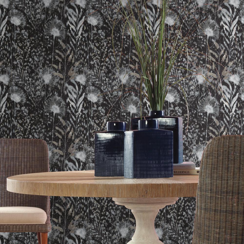 RoomMates 28.29 sq. ft. Dandelion Peel and Stick Wallpaper