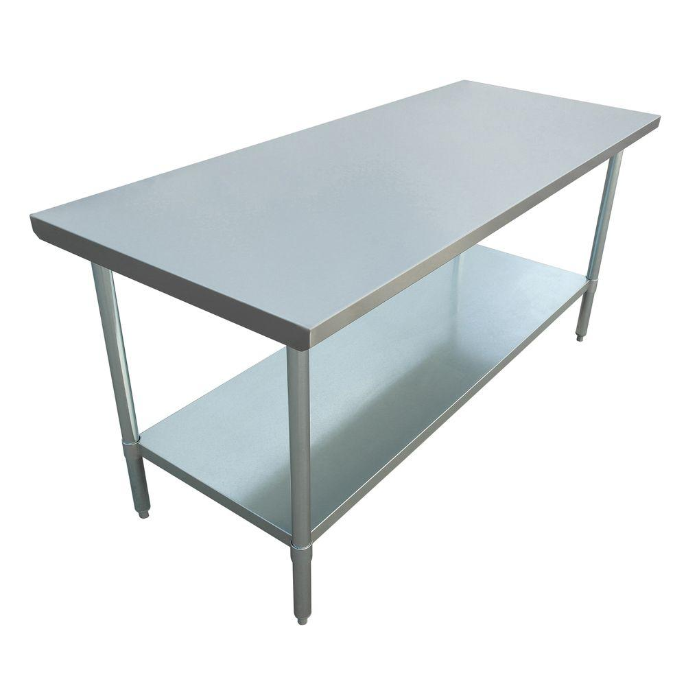 Excalibur Stainless Steel Kitchen Utility Table-ET184F3072G - The ...