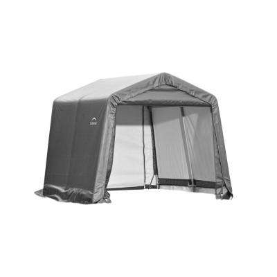 10 ft. x 16 ft. x 8 ft. Grey Steel and Polyethylene Garage without Floor