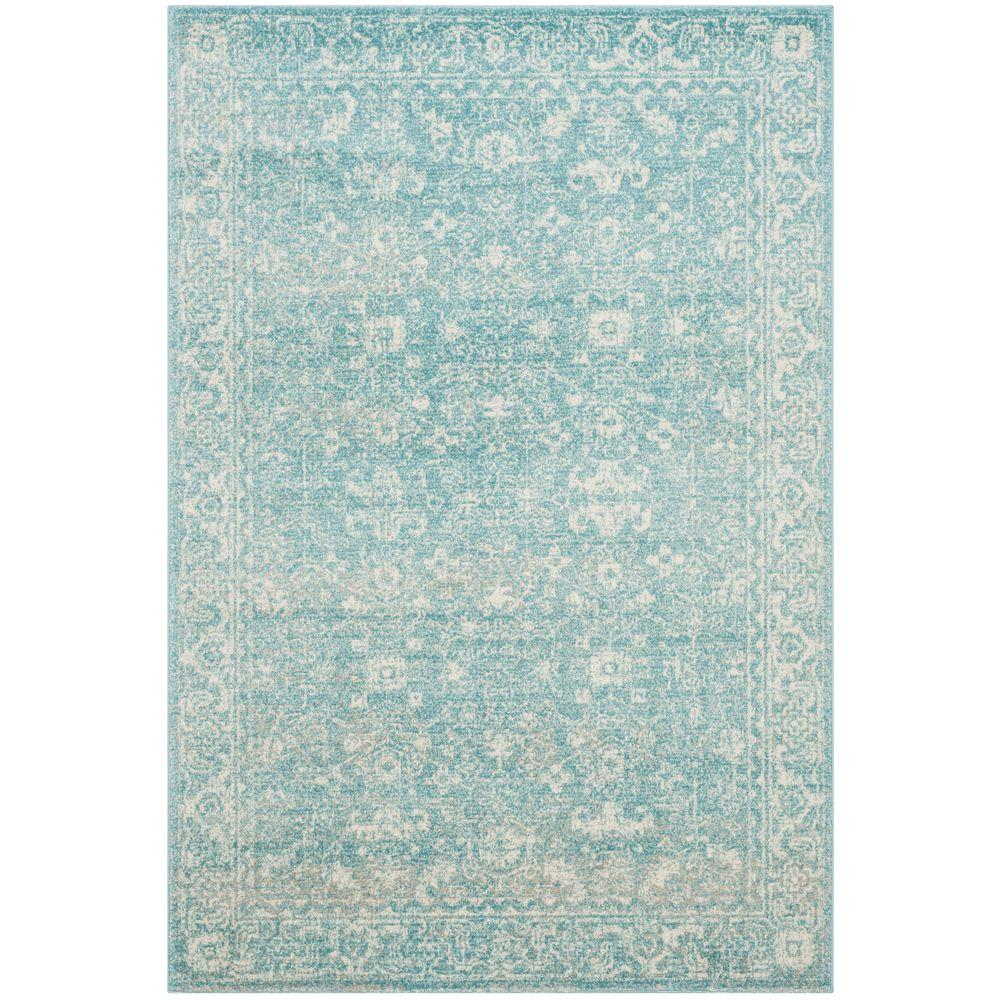 Safavieh Evoke Light Blue Ivory 7 Ft X 9 Area Rug