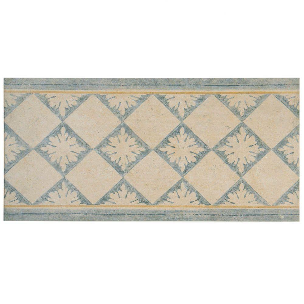 Merola Tile Abadia Blanco 6-1/2 in. x 13 in. Porcelain Listello Trim Tile