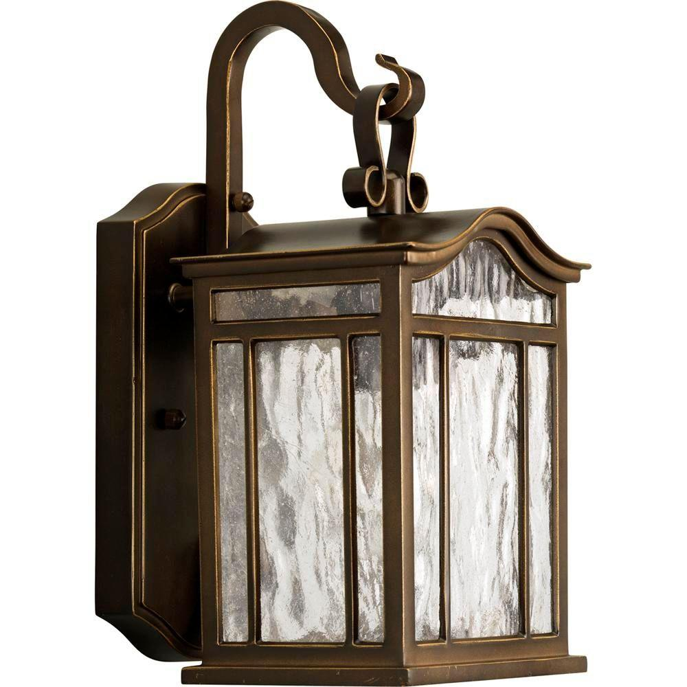Progress Lighting Meadowlark Collection 1-Light Outdoor Oil-Rubbed Bronze Wall Lantern