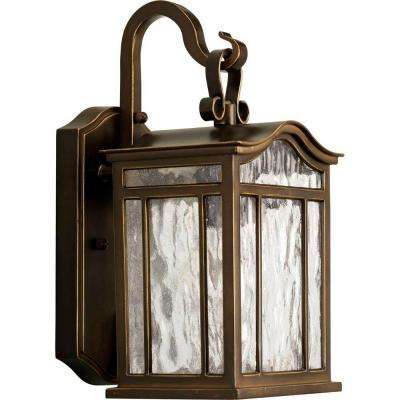 Meadowlark Collection 1-Light Outdoor Oil-Rubbed Bronze Wall Lantern
