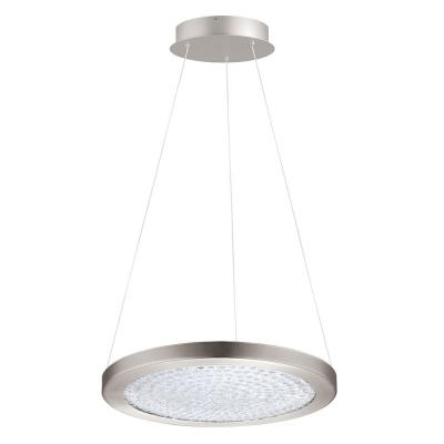 1-Light Arezzo 3 1x19-Watt 15 in. LED Pendant with Matte Nickel