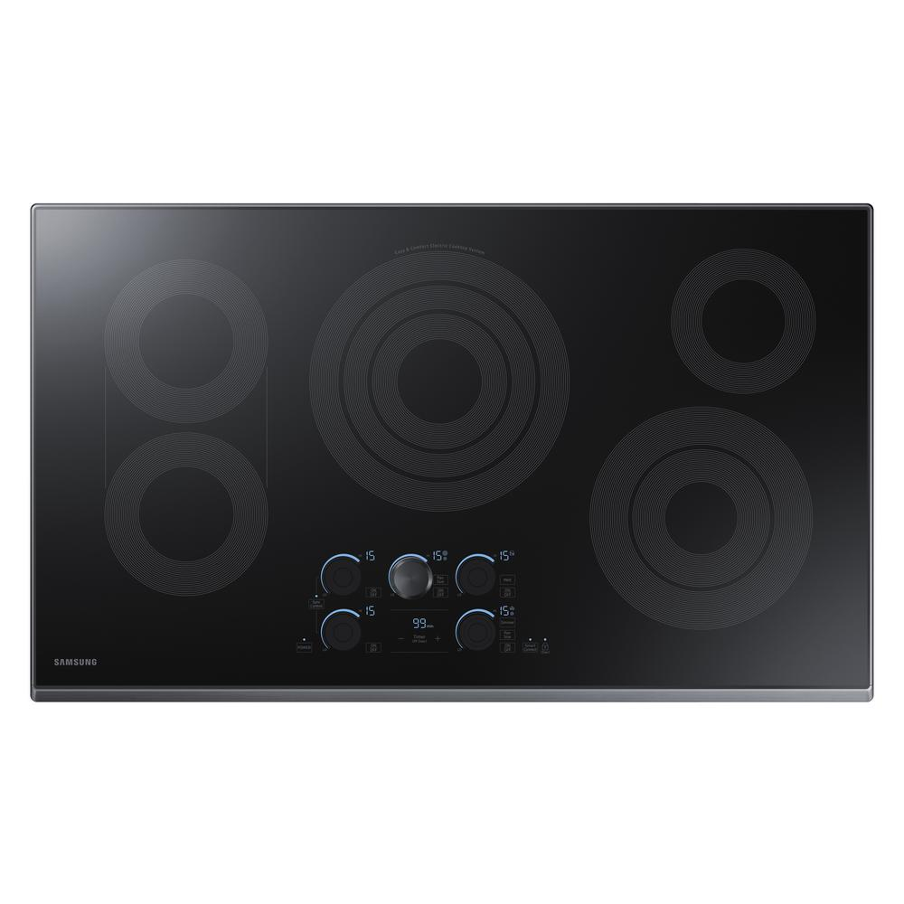 Ceramic Electric Cooktop In Black Stainless With 5 Elements Including Rapid  Boil