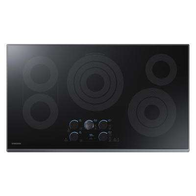 36 in. Ceramic Electric Cooktop in Black Stainless with 5 Elements including Rapid Boil with WiFi