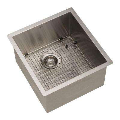 Contempo Series Undermount Stainless Steel 17 in. Single Bowl Kitchen Sink