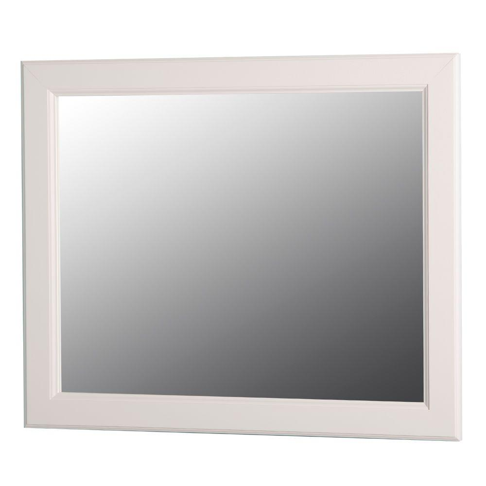 Home decorators collection dowsby 26 in l x 31 in w wall mirror in cream ykwm26 cr the home Home decorators collection mirrors